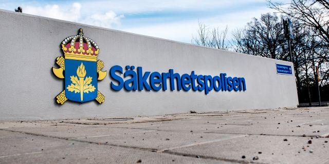 Säkerhetspolisen. Tomas Oneborg/SvD/TT / TT NYHETSBYRÅN