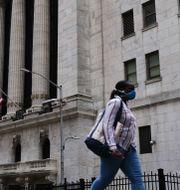 Wall Street i New York.  SPENCER PLATT / TT NYHETSBYRÅN