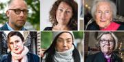 PO Tidholm, Elisabeth Åsbrink, Hédi Fried, Birgitta Ohlsson, Maxida Märak och Eva Brunne. TT