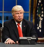 Alec Baldwin som Trump i SNL. Will Heath / TT NYHETSBYRÅN/ NTB Scanpix