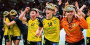 Sävehof firar sjätte raka guldet. JESPER ZERMAN / BILDBYRÅN