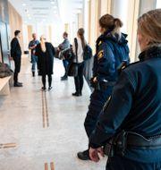 Rättegången mot kvinnan inleddes i säkerhetssalen i Lunds tingsrätt i veckan. Johan Nilsson/TT / TT NYHETSBYRÅN