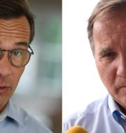 Ulf Kristersson och Stefan Löfven. TT
