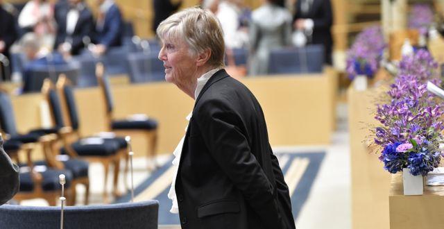 Barbro Westerholm (L) vid riksmötets öppnande igår Henrik Montgomery/TT / TT NYHETSBYRÅN