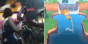 """""""Resident Evil 3"""" och """"Animal Crossing"""" kan fylla olika syften under krisen. Capcom/Nintendo"""