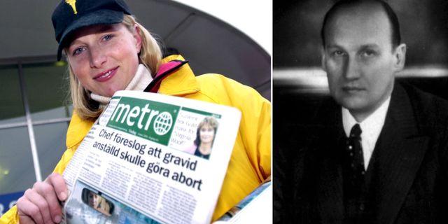 Christina Stenbeck delar ut Metro 2003/Ivar Kreuger. TT