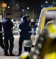 Polisen på plats vid Hermodsdal under gårdagen.  Johan Nilsson/TT / TT NYHETSBYRÅN