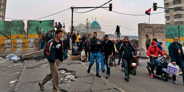 Bagdad.  Hadi Mizban / TT NYHETSBYRÅN