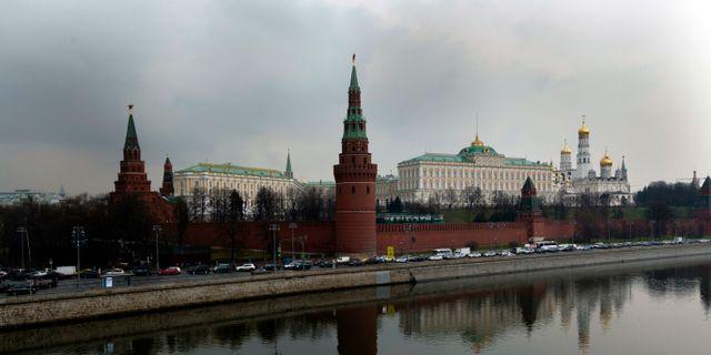 Arkivbild: Vy över Kreml i den ryska huvudstaden Moskva.  Ivan Sekretarev / TT / NTB Scanpix