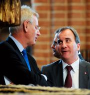 Carl Bildt och Stefan Löfven.  JESSICA GOW / TT / TT NYHETSBYRÅN