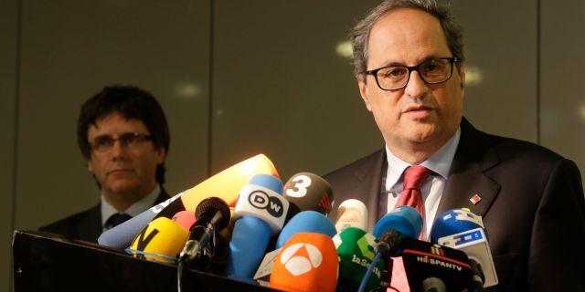 Nye regionspresidenten Quim Torra. Markus Schreiber / TT / NTB Scanpix