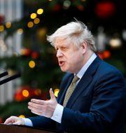Boris Johnson under sitt tal. HENRY NICHOLLS / TT NYHETSBYRÅN