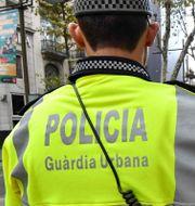 Illustrationsbild. Polis i Barcelona.  PASCAL GUYOT / AFP
