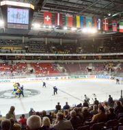 Arkivbild, Sverige spelar i Riga. ANDREAS HILLERGREN / Bildbyrån