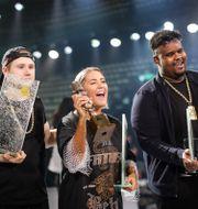 Einár, Molly Sandén och Dree Low prisades alla tvåfaldigt. Adam Ihse/TT / TT NYHETSBYRÅN
