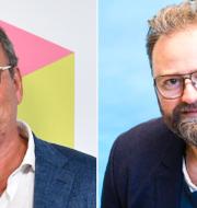 Steffo Törnquist och Adam Alsing.  TT