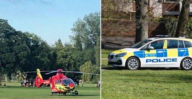Ambulanshelikopter på plats/illustrationsbild.  TT