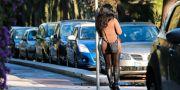 En prostituerad kvinna i Frankrike/arkivbild.  TT NYHETSBYRÅN