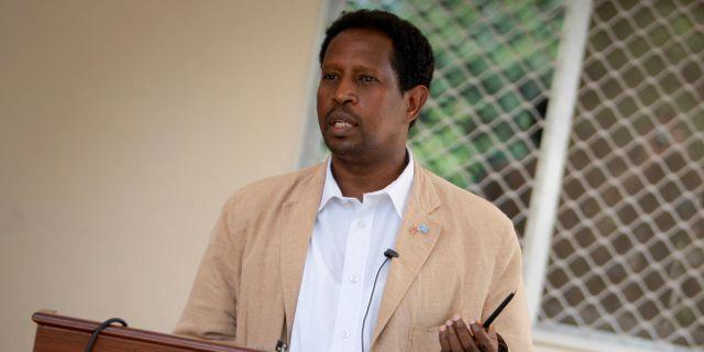 Abdirahman Omar Osman. STUART PRICE / AU-UN IST PHOTO