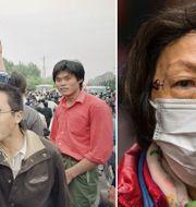 Protesterna vid Himmelska fridens torg 1989/kvinna i Wuhan. TT