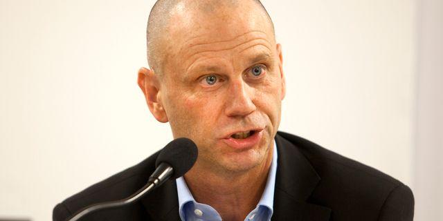 Håkan Jeppsson vid en presskonferens Stig-Åke Jönsson / TT / TT NYHETSBYRÅN