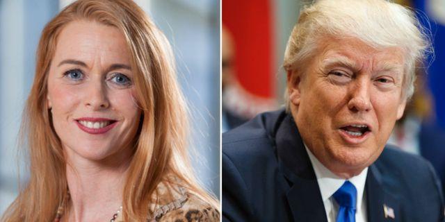 Pernilla Stålhammar och Donald Trump MP/TT