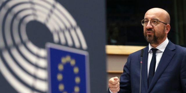 EU:s permanente rådsordförande Charles Michel.  Yves Herman / TT NYHETSBYRÅN