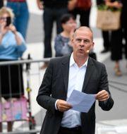 Benny Fredriksson utanför Stadsteatern 2017 Anders Wiklund/TT / TT NYHETSBYRÅN