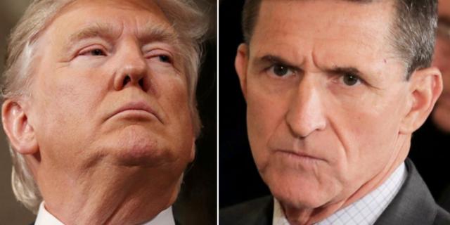 Trump och Flynn. TT