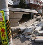 Bild från Kunimi, norr om Fukushimas stad.  Jun Hirata / TT NYHETSBYRÅN