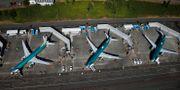 Arkivbild: Omålade flygplan av typen 737 Max-8 står uppställda vid Renton Municipal Airport i Washington.  Lindsey Wasson / TT NYHETSBYRÅN