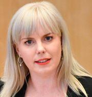 Linda Snecker (V).  Henrik Montgomery/TT / TT NYHETSBYRÅN