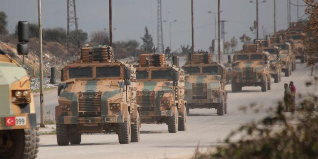 Turkisk militärkonvoj i Idlibregionen. Ghaith Alsayed / TT NYHETSBYRÅN