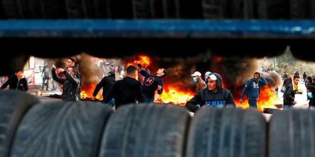 Palestinska protester. ABBAS MOMANI / AFP