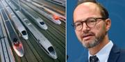 Snabbtåg i Kina. Infrastrukturminister Tomas Eneroth (S).  TT