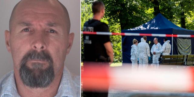 Sokolovs passbild/brottsplatsundersökning i Berlin. –– /TT