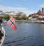 Norsk båt i Strömstad.  Adam Ihse/TT / TT NYHETSBYRÅN