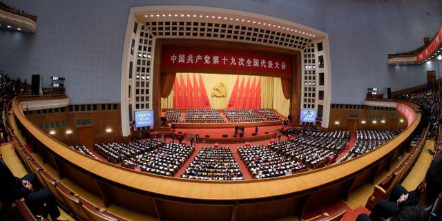 Kommunistpartiets partikongress i Peking.  JASON LEE / TT NYHETSBYRÅN