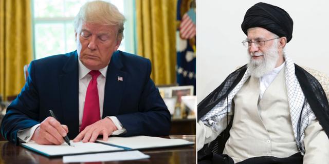 Donald Trump och  Ayatollah Ali Khamenei. TT.