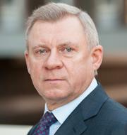 President Volodymyr Zelenskyj och centralbankschefen Jakiv Smolij.  TT / Wikimedia