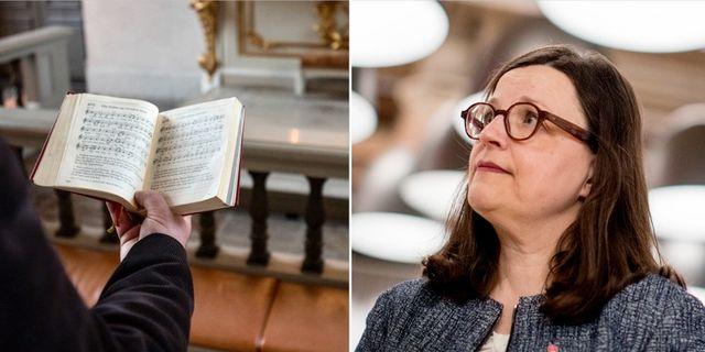 Gymnasieminister Anna Ekström under socialdemokraternas kongress i Svenska mässan. TT