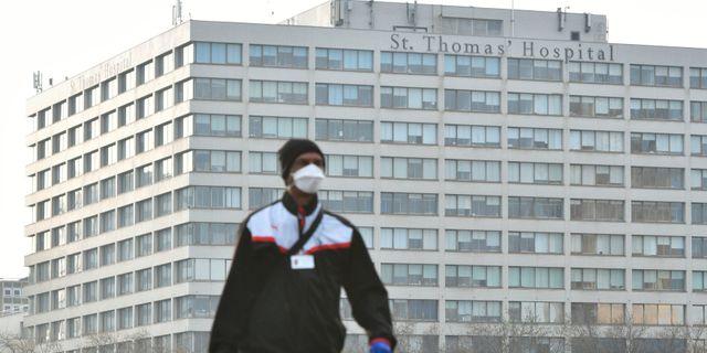 St Thomas Hospital, där Boris Johnson vårdas Dominic Lipinski / TT NYHETSBYRÅN