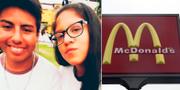 Gabriel Campos och Alexandra Porras dog i olyckan på McDonalds i Peru. Privat / TT