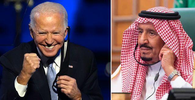 Joe Biden och Kung Salman.  TT