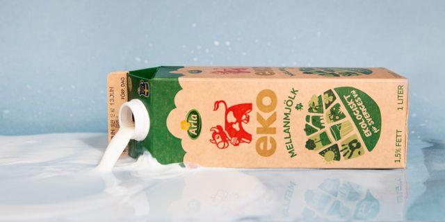 En förpackning ekologisk mellanmjölk från Arla. Emma-Sofia Olsson/SvD/TT / TT NYHETSBYRÅN