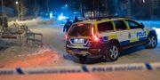 Poliser vid brottsplatsen i Ersboda Samuel Pettersson / TT NYHETSBYRÅN