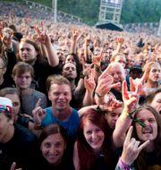 Publiken vid Iron Maiden i Köpenhamn 2014/Arkivbild RICKARD NILSSON / TT NYHETSBYRÅN