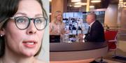 Maria Malmer Stenergard (M)/Morgan Johansson i SVT Morgonstudion. TT/SVT