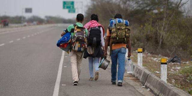 Migranter från Venezuela lämnar landet. Martin Mejia / TT NYHETSBYRÅN/ NTB Scanpix