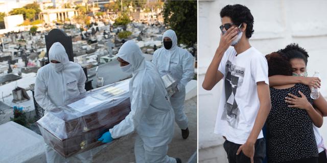 Begravning i Brasilien.  TT